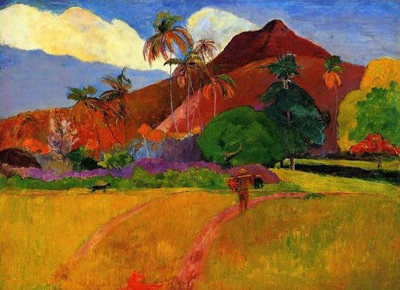 """Paul Gauguin, """"Montagnes Tahitiennes"""" (1891)"""