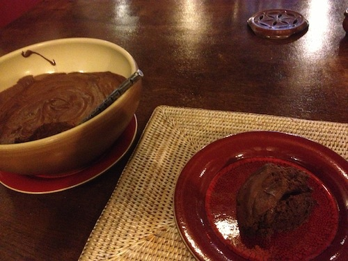 The massive mousse bowl and my plate