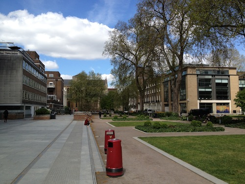 The campus of University of London, Birkbeck
