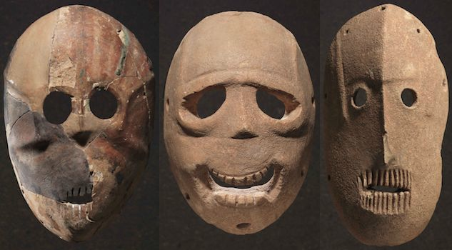 Neolithic ancestor masks found in the Judean Hills (ca. 9,000 BC)
